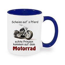 Scheiß aufs Pferd / Motorrad - Kaffeetasse mit Motiv, bedruckte Tasse