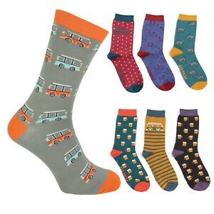 Mr Heron Soft Bamboo Socks - One Size - Wide Choice of patterns & Colours GIFT