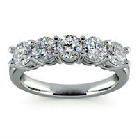 2.6ct White Topaz Fashion Woman 925 Silver Wedding Band Ring Party Sz 6-10