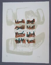 Henry Moore Eight Reclining Figures Lithograph 1963 Hand Signed and Numbered