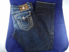True Religion Jeans Ricky Super T 38x34 Collateral Rust Bartacks EUC