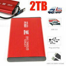2TB HDD USB3.0 Externo HD Disk Storage Devices Laptop Red External Hard Drive *