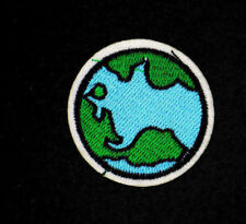 GLOBE PATCH, PLANET EARTH APPLIQUE, PLANET PATCH, CARTOON EARTH PATCH(SG-339)