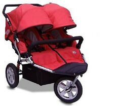 New Tike Tech CityX3 RED Double Twin Child Stroller