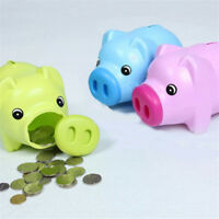 Best Gift!Cartoon Pig Plastic Piggy Bank Money Saving Box Coin Storage Case Kids