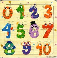 PUZZLE EN BOIS 20 PIECES - POUR JEUNE ENFANT - CHIFFRES