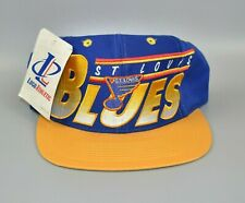 St. Louis Blues NHL Vintage 90's Logo Athletic Adjustable Snapback Cap Hat