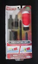 NEW Jakks Pacific Real Construction Ratcheting Toy Screw Driver Set