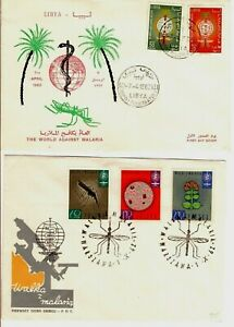 The World Against Malaria Mosquitos - Stamps Cancels Covers - Topical - 4 Items