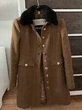 100% Authentic Burberry Brit Coat. Removable Fur Collar. Excellent. Size 8