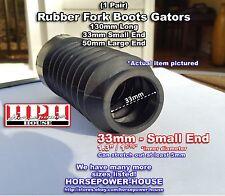 33mm Rubber Fork Boots Sleeve Gators @ 70's 80's Custom Cafe Racer Mod Bike Many