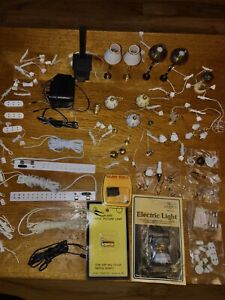 Dolls house Lights Lamp Electrics Adaptor Extension Mixed Job Lot 12th scale