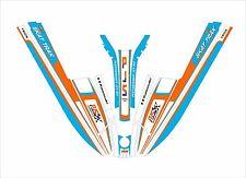 kawasaki 440 550 sx  js jet ski wrap graphics pwc stand up decal kit PJS orange