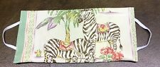 Everyday Women's Colorful Zebras/Palm Tree Face Mask~Pockets