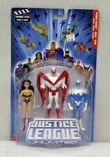 JLU 3 Pack Wonder Woman Hawk Dove Mattel NIP Blue Package 4+ 5 inch 2005 S150-22