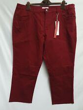 Sheego Damen Jeans Hose Rot Gr.50 Neu mit Etikett