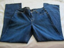 CALVIN KLEIN Womens Stretch Calvin Flare Blue Jeans Size 12X32