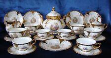 Service porcelaine café / thé Bavaria decor Fragonard et or