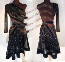 L1295  Beading Ballroom swing Ramba Latin/Rhythm Samba US 8 Dance Dress  black