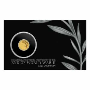 Perth Mint End of WWII 75th Anniversary 2020 0.5g Gold Coin