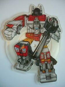 """Transformers The Movie Stan Bush The Touch 7"""" Shaped Picture Disc Vinyl Single"""