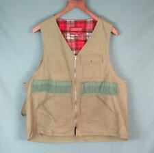 Vintage 60s Cumberland Hunting Clothes Shooting Field Vest Canvas Trap Shoot XL