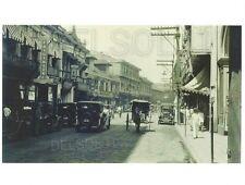 STREET SCENE IN MANILA PHILIPPINES ESCALTA MAIN ST. PHOTO PRINT OLD CARS