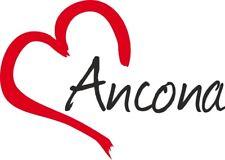 """Adesivo per auto """" ANCONA """"(Città) cuore Sticker ca.9x13 cm taglio contorno"""