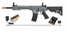 GREY Lancer Tactical GEN2 M4 EVO AEG KEYMOD Airsoft Rifle Gun + 9.6 Battery Kit
