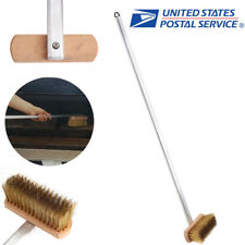 """37"""" Copper Wire Pizza BBQ Oven Grill Bristles Cleaning Brush Scraper Wood Handle"""