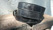 """Wild Alligator Black 49"""" Adjustable Bling gator swamp leather Belt  A1"""