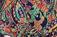 Vera Bradley Venetian Paisley Tote Vintage Purse Colorful Hipster