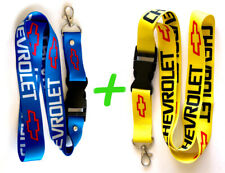 2 x CHEVROLET CHEVY Blue and Yellow Lanyard Key Chain