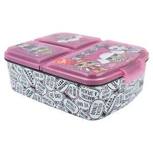LOL Surprise Kids Children's 3 Compartment Sandwich Lunch Box