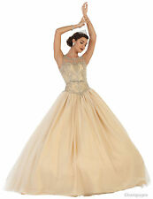 SALE MILITARY BALL SWEET 16 GOWN PAGEANT PROM DANCE MASQUERADE QUINCEANERA DRESS