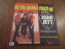 45 tours joan jett & the blackhearts do you wanna touch me (oh yeah)