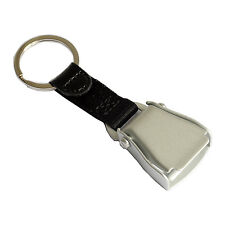 Airplane Seatbelt Keychain | Black | Matt Finish | High Quality|| aviamart®