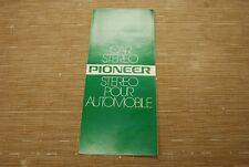Pioneer TP-900 TP-9005 KP-500 KP250 TS694 TS693 Car Stereo Original Catalogue
