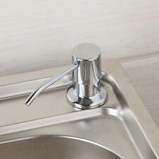 Chrome ABS Plastic Kitchen Liquid Soap Dispenser Bottle For Sink