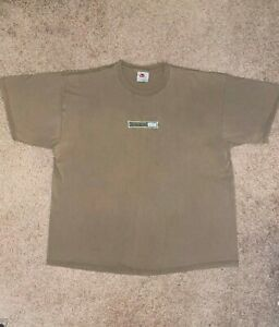 Vintage 90's Nike Embroidered Box Logo Tee Men's Size XL Tan/Beige Made In USA
