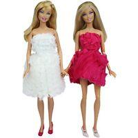 2 X Fashion  Evening Wedding Party Dress Clothes Gown Outfit For Barbie Doll