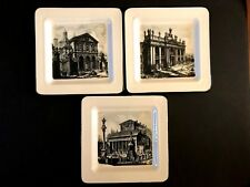 Ville Ceramic Decorative Plates - Made in Italy (Set of 3)