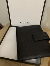 BNIB GUCCI HILARY DIAMANTE BLACK LEATHER IPAD TABLET CASE COVER SLEEVE RP £445