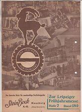Werbe Prospekt Steinbock Räder Hubwagen Sackkarren Moosburg um 1930 ! (D2