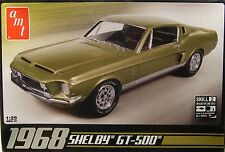 1968 FORD SHELBY GT500 MUSTANG AMT 1:25 SCALE PLASTIC MODEL CAR KIT