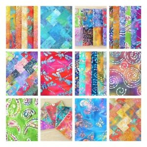 BATIK CHARM PACKS, JELLY ROLL STRIPS, LAYER CAKE, METRE COTTON PATCHWORK FABRIC