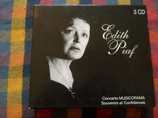 Edith Piaf Concerts Musicorama Souvenirs et Confidences 3 CD Box
