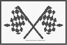 Crochet Patterns - RACING CHECKERED FLAG afghan pattern