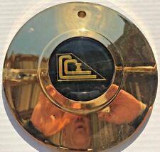 CCI Wheels- Gold Replacement WHEEL Center CAP BLACK EMBLEM (1 EA)- FREE SHIP