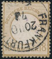 DR 1872, MiNr. 11, sauber gestempelt, Fotoattest Krug., Mi. 500,-
